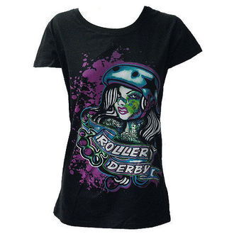 Damen T-Shirt  DARKSIDE - Roller Derby - Black