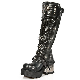 Punk Boots NEW ROCK - 1030-S1 - Planing Negro