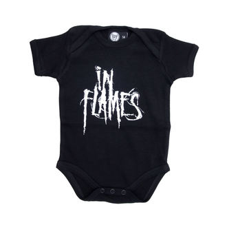 Baby Body  In Flames - Logo - Black - Metall-Kids