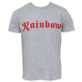 Herren T-Shirt Rainbow - Logo - Grey Ringspun - PLASTIC HEAD, PLASTIC HEAD, Rainbow