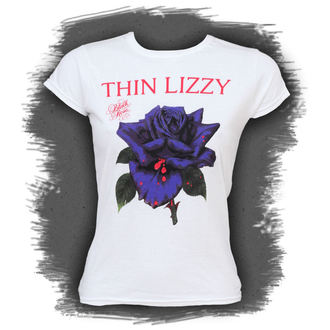 Damen T-Shirt  Thin Lizzy - Black Rose - PLASTIC HEAD - PH5385