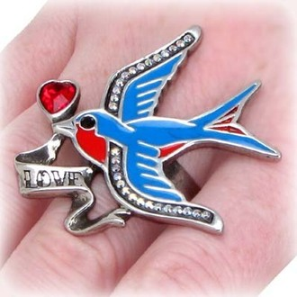 Ring Swallow Love - ALCHEMY GOTHIC