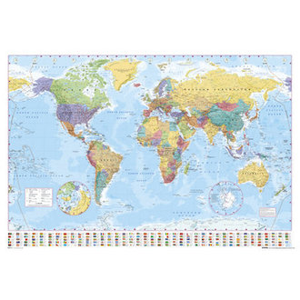 Posters World Map 2012 - GB Posters - GN0214
