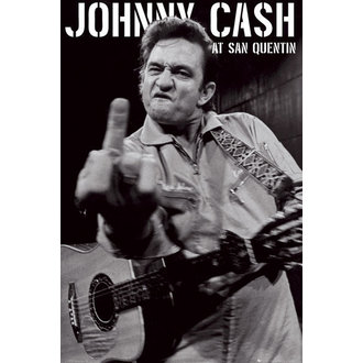 Posters Johnny Cash - San Quentin Portrait - GB Posters - LP1472