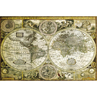 Posters World Map Historical - GB Posters - GN0685