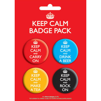 Badge Keep Calm Badge - GB Posters - BP00199