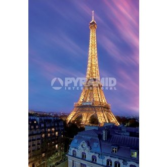 Poster Eiffel Tower At Dusk - Pyramid Posters - PP30966