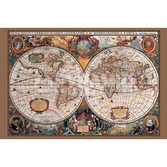 Poster 17th Century World Map - Pyramid Posters - PP31836