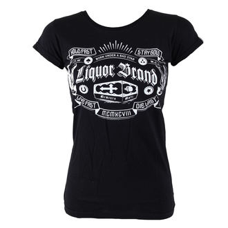 Damen T-Shirt  LIQUOR BRAND - Coffin - Black