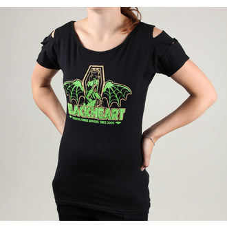 Damen T-Shirt (Overkill Top) BLACK HEART - Coffin - schwarz