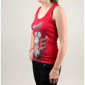 Damen Tank Shirt  BLACK HEART - Enola - Red