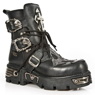 Punk Boots NEW ROCK - 1033-S1 - Itali Negro