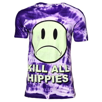 Herren T-Shirt DISTURBIA - No Wave Hippy - Purple - 028