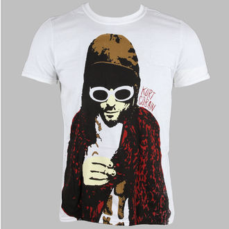 Herren T-Shirt Kurt Cobain - Posterized - Wht - LIVE NATION - RTKCO0101