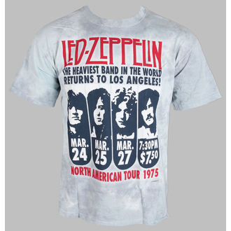 Herren T-Shirt Led Zeppelin - Zeppelin LA 1975 - LIQUID BLUE - 11813