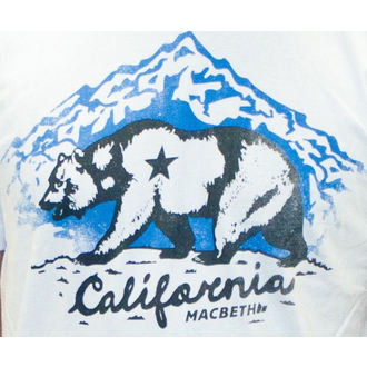 Herren T-Shirt MACBETH - California - White Classic