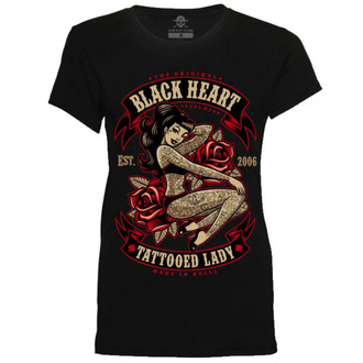 Damen T-Shirt Street - TATTOED LADY - BLACK HEART, BLACK HEART