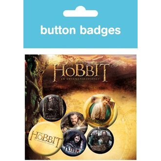 Button The Hobbit - Gandalf Dwarves - BP0322 - GB posters