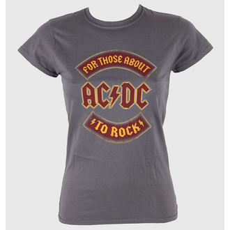 Damen T-Shirt  AC/DC - About To Rock Banner - LIVE NATION - RTACDC38500