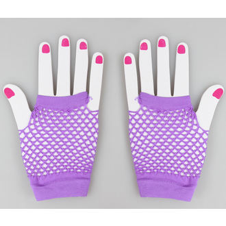 Halbfinger Handschuh POIZEN INDUSTRIES - NSD Fishnet - Purple