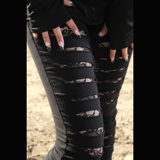 Damen Leggings POIZEN INDUSTRIES - Slasher - Black