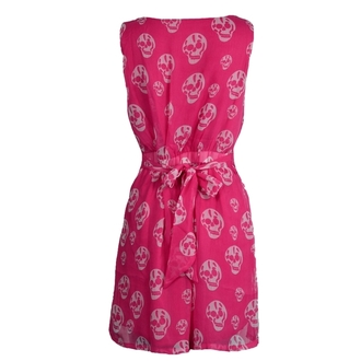 Damen Kleid POIZEN INDUSTRIES - Slip Skull - Pink