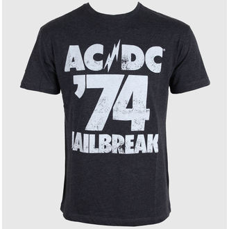 Herren T-Shirt AMPLIFIED - AC/DC - Tour 74 Faded - Black - ZAW260A74