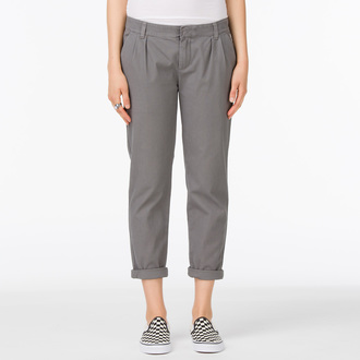 Damen Hose  VANS - G Pleated Chino - Graphite