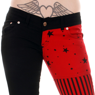 Damen Hose  3RDAND56th - Split/L Skinny - Blk/Red