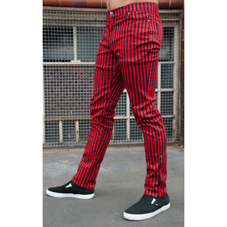 Herren Hose  3RDAND56th - Striped Skinny Jeans - Blk/Red