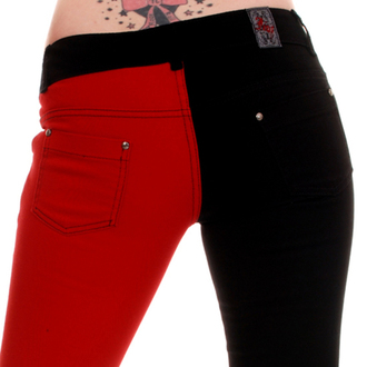 Hose Damen 3RDAND56th - Split Leg Skinny Jeans - Black/Red - JM1139