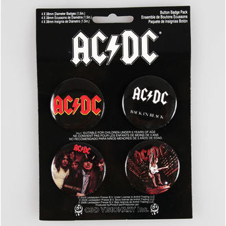 Button Badge Set AC/DC - CDV - B-3363