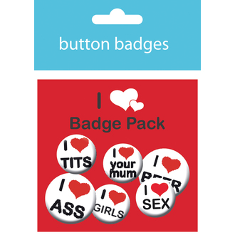 Button Badge Set I Love Man´s Pack - BP0366