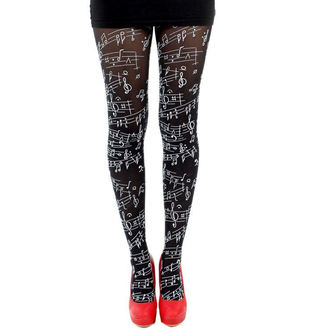 Strumpfhose PAMELA MANN - Flocked Tights Musical Notes - 029
