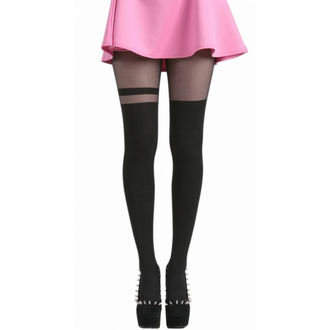 Strumpfhose PAMELA MANN - Over The Knee Stripe Tights - Black - 048