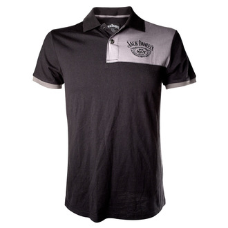 Herren Poloshirt Jack Daniels - Patch With Logo - Grey - PO255618JDS