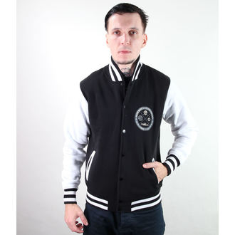 Herren Baseball-Jacke BLACK HEART - Circle Skull
