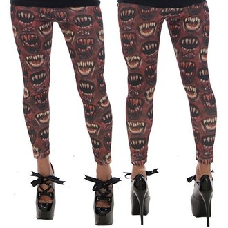 Damen Leggings KREEPSVILLE SIX SIX SIX - Monster Mouth - Red, KREEPSVILLE SIX SIX SIX