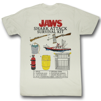 Herren T-Shirt Jaws (Der weiße Hai)  - Survival Kit - AC - JAW5218