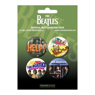 Button  The Beatles - Green - PYRAMID POSTERS - BP80284