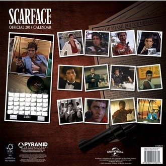 Kalender  2014 Scarface - PYRAMID POSTERS, PYRAMID POSTERS