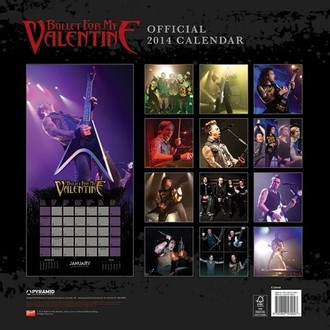 Kalender  2014 Bullet For My Valentine - PYRAMID POSTERS