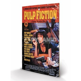 Holzbild Pulp Fiction - Cover - PYRAMID POSTERS - LW10497P