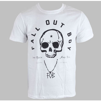Herren T-Shirt   Fall Out Boy - Headdress - White - LIVE NATION - PE10833TSW