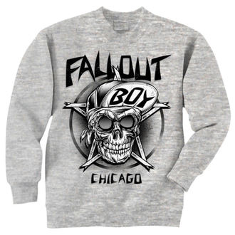 Herren Hoodie Fall Out Boy - Skull - Grey - LIVE NATION - PE10832CNC