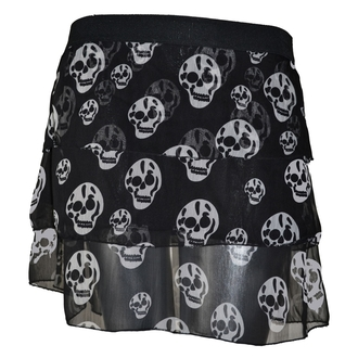 Damen Rock POIZEN INDUSTRIES - Skull - Black