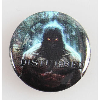 Button  Disturbed  - Indestruct 5 Btn - BRAVADO