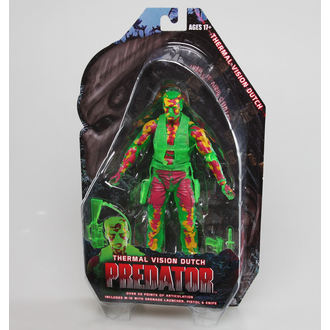 Figur Predator 2 - Thermal Vision Dutch, NECA