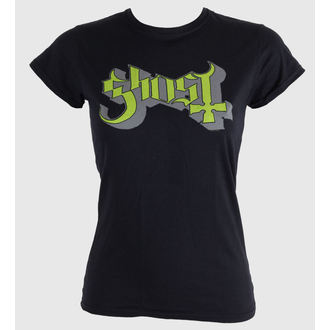 Damen T-Shirt  Ghost - Keyline Logo - Green Grey - ROCK OFF - GHOTEE02