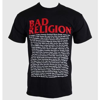 Herren T-Shirt   Bad Religion - Song Mari-Blatt - Black - 00384 - KINGS ROAD
